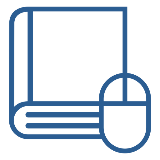 Book and mouse icon Transparent PNG