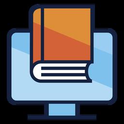 Buch auf dem Bildschirm Logo