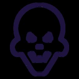 Logotipo de calavera enojada brutal