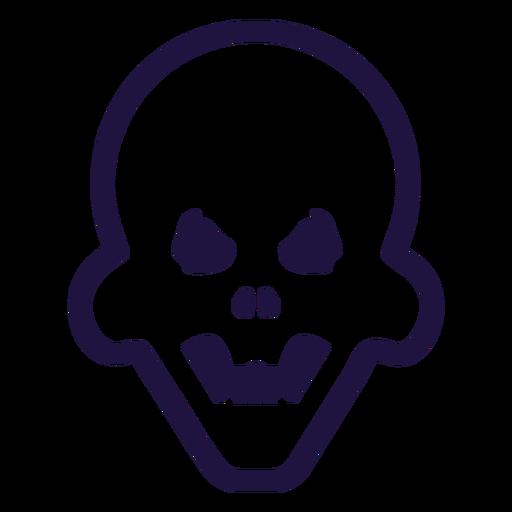 Brutal angry skull logo Transparent PNG