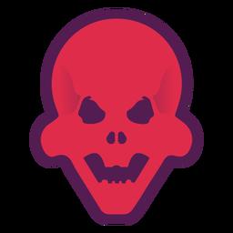 Logotipo de calavera roja brutal