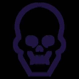 Logotipo de trazo de calavera brutal