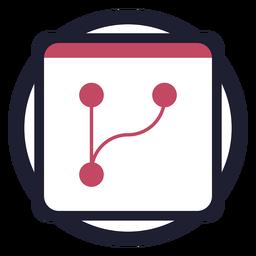 Logotipo do calendário em círculo