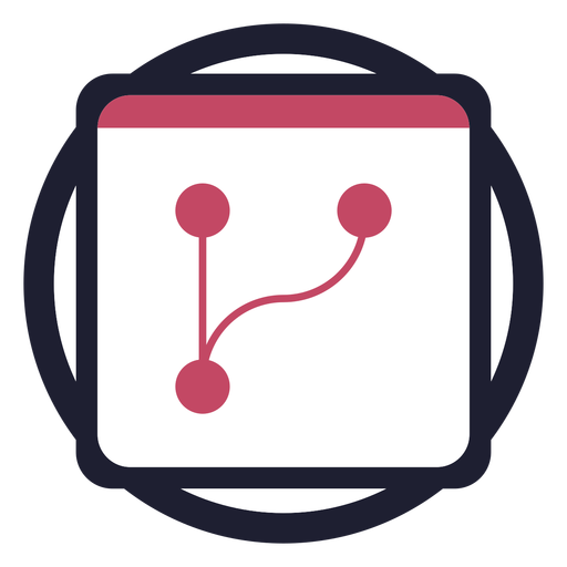 Calendar in circle logo Transparent PNG