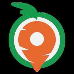 Logotipo de entrega de zanahoria