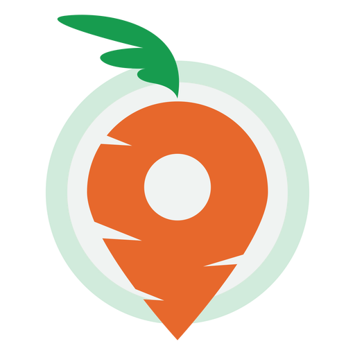 Carrot delivery logo Transparent PNG