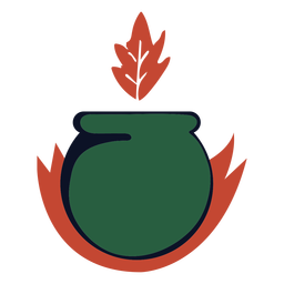 Cauldron burning logo
