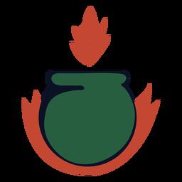 Logotipo de la quema de caldero