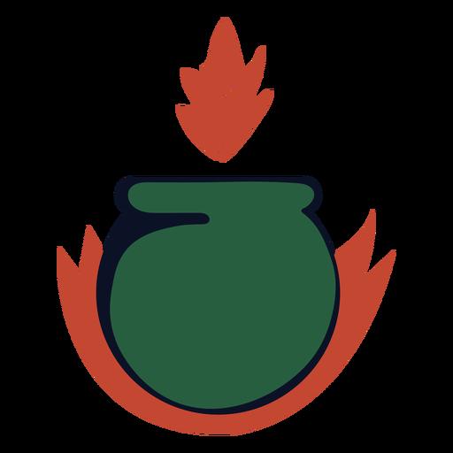 Cauldron burning logo