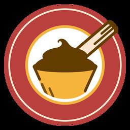 Logo de postre de chocolate