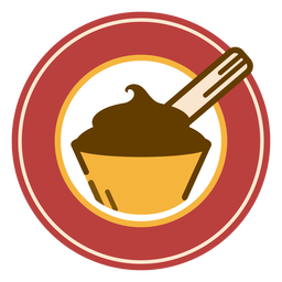 Logotipo de sobremesa de chocolate