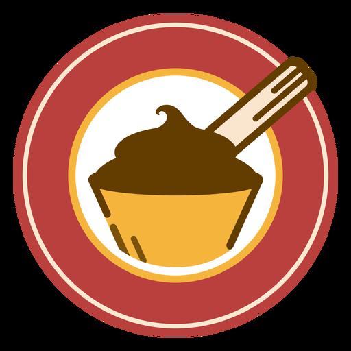 Logo de postre de chocolate Transparent PNG