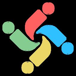 Buntes verwirbeltes Buchstaben i abstraktes Logo