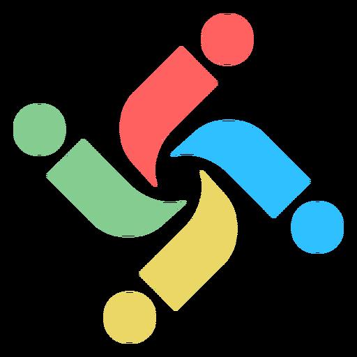 Colorido remolino letra i logotipo abstracto Transparent PNG