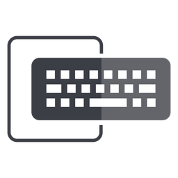 Computertastatur und Monitorlogo