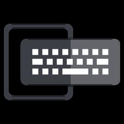 Logotipo de teclado y monitor de computadora