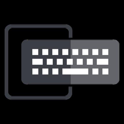 Computer keyboard and monitor logo