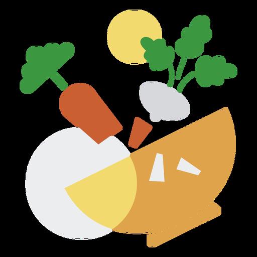 Logotipo de ingredientes de cocina