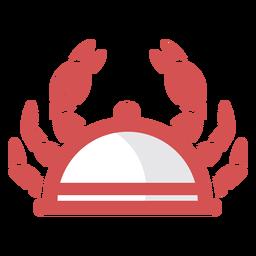 Logotipo de plato de cangrejo