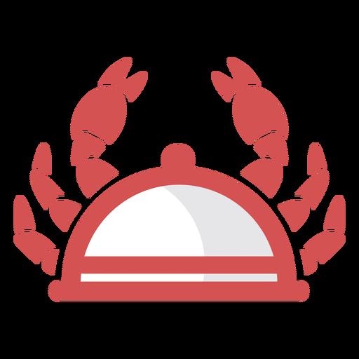 Crab dish logo Transparent PNG
