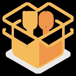 Cubiertos en logo de caja