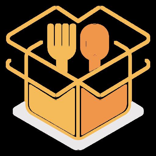 Cutlery in box logo