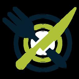 Besteck auf Teller Logo