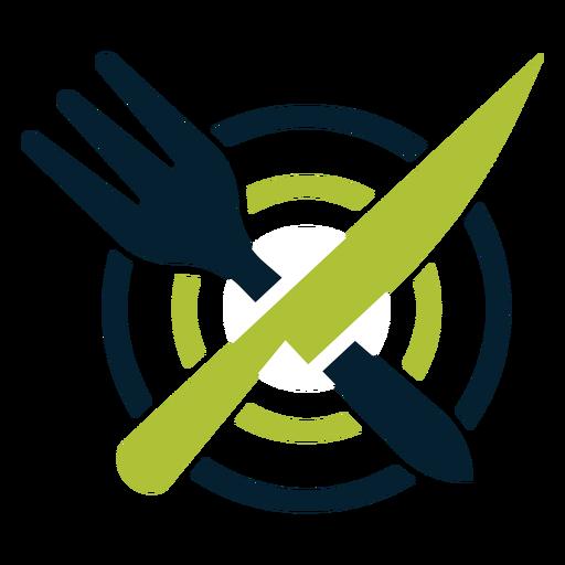 Cutlery on plate logo