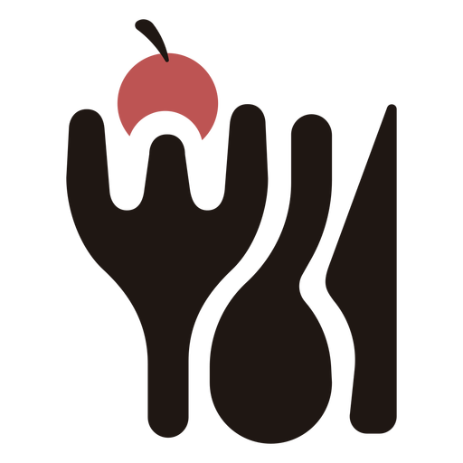Cutlery silhouette logo