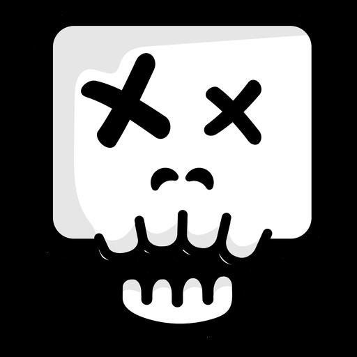 Dead skull illustration logo Transparent PNG