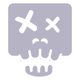 Dead skull silhouette logo
