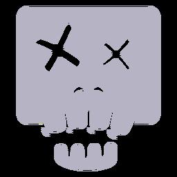 Logo de silueta de calavera muerta