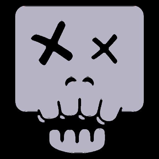 Dead skull silhouette logo Transparent PNG