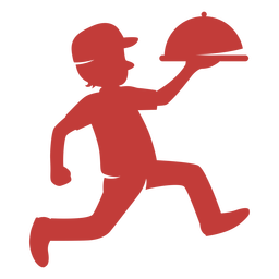 Delivery man logo