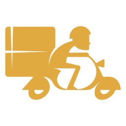 Delivery man on motorbike logo