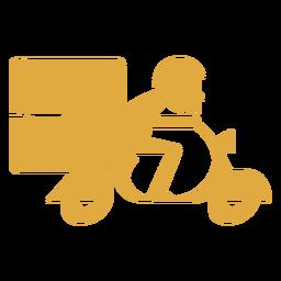 Lieferbote auf Motorradlogo
