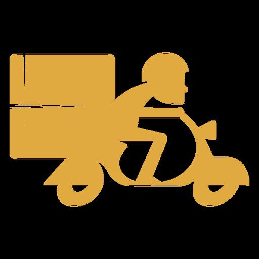 Delivery man on motorbike logo