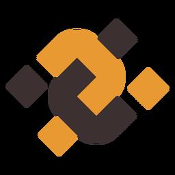 Logotipo abstracto doble u