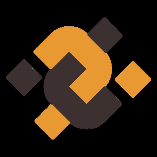 Logotipo abstracto doble u Transparent PNG