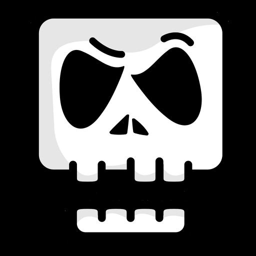 Doubtful skull illustration logo Transparent PNG