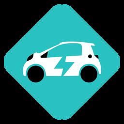 Logotipo geométrico de coche eléctrico