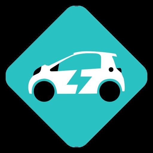 Electric car geometric logo