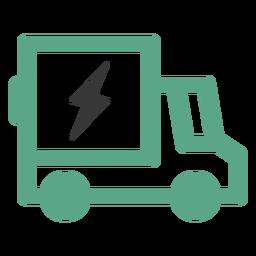 Logotipo de camión eléctrico