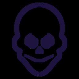 Evil skull stroke logo