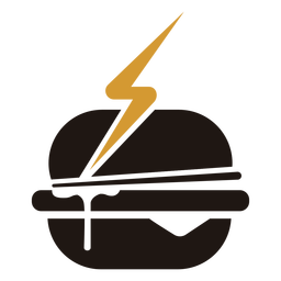 Fast food hamburger logo