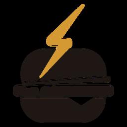 Logotipo de hamburguesa de comida rápida