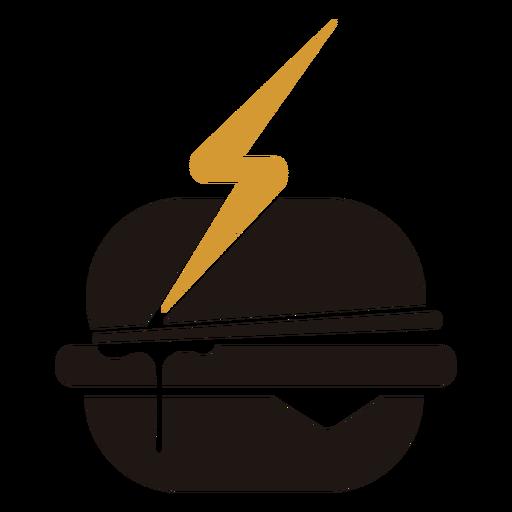 Fast food hamburger logo