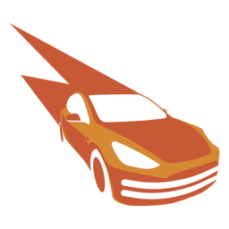 Fast speeding car logo