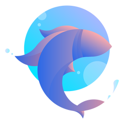 Fish jumping logo