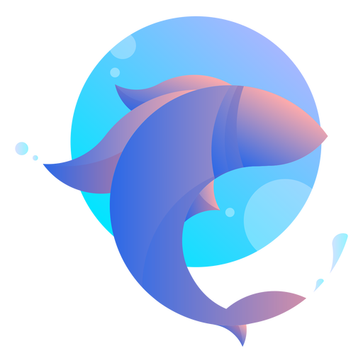 Fish jumping logo Transparent PNG